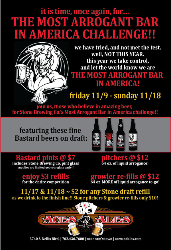 Arrogant Bastard Hooked On Hops The Las Vegas Craft Beer Site